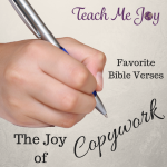 Joy of Copywork Bible
