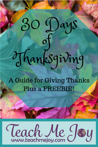 30 Daysof Thanksgiving